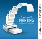 printer printing copies of text ... | Shutterstock .eps vector #399705895