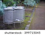 metal bins for separate waste... | Shutterstock . vector #399715045