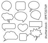 set of speech bubbles | Shutterstock .eps vector #399720769