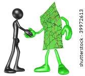 map handshake | Shutterstock . vector #39972613