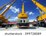 mobile construction cranes with ... | Shutterstock . vector #399728089