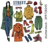 fashion illustration.beautiful... | Shutterstock . vector #399728245