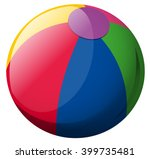 beach ball on white background... | Shutterstock .eps vector #399735481