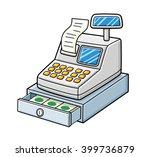 cash register with a receipt... | Shutterstock .eps vector #399736879