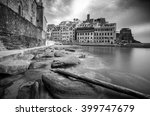 Vernazza In Black And White