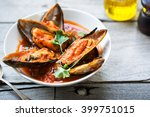 New Zealand Mussels In Tomato...
