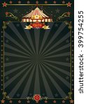 magic black circus.a beautiful... | Shutterstock .eps vector #399754255