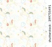 Seamless Patterns With Unicorn...