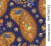 paisley vintage floral motif... | Shutterstock . vector #399756511