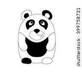cute little cartoon panda.... | Shutterstock .eps vector #399758731