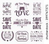wedding typographic set. we are ... | Shutterstock .eps vector #399767371