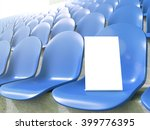 Placard On Blue Seat At Stadiu...