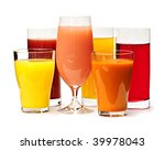 Various Glasses Of Juices...