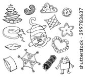cushions toy. hand drawn doodle ... | Shutterstock .eps vector #399783637