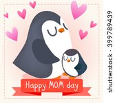 happy mother's day. baby and... | Shutterstock .eps vector #399789439