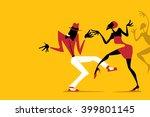 salsa   samba   rumba   latin... | Shutterstock .eps vector #399801145