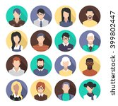 set of colorful icons. people....   Shutterstock .eps vector #399802447