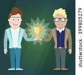 illustration of two businessmen ... | Shutterstock .eps vector #399805279