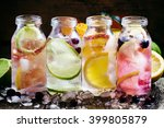 set cold citrus lemonade  lemon ... | Shutterstock . vector #399805879