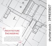 vector technical blueprint of ... | Shutterstock .eps vector #399835807