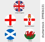 united kingdom collection flags ... | Shutterstock .eps vector #399836131