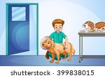 vet healing dog at the hospital ... | Shutterstock .eps vector #399838015