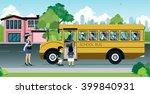 mother are sending their... | Shutterstock .eps vector #399840931