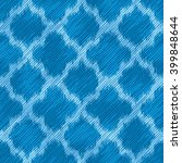 blue faux fabric textured... | Shutterstock .eps vector #399848644