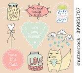 romantic vintage design...   Shutterstock .eps vector #399851707