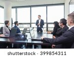 successful team leader and... | Shutterstock . vector #399854311