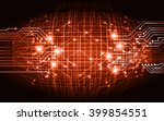 dark orange color light... | Shutterstock .eps vector #399854551