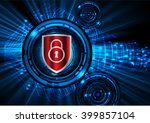 safety concept  closed padlock... | Shutterstock .eps vector #399857104