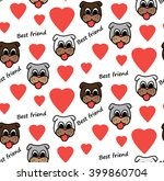 seamless pattern with hearts... | Shutterstock .eps vector #399860704