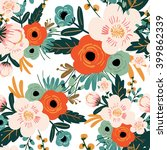Flower Seamless Pattern Vintag...