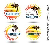 summer holidays design elements ... | Shutterstock .eps vector #399864535