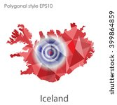 iceland map in geometric... | Shutterstock .eps vector #399864859