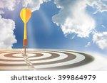 selective focus of old dart... | Shutterstock . vector #399864979