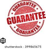 guarantee grunge stamp.vector   Shutterstock .eps vector #399865675
