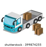 isometric vehicle design  | Shutterstock .eps vector #399874255