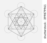 metatron's cube. flower of life.... | Shutterstock .eps vector #399879961
