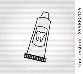dental care icon design  | Shutterstock .eps vector #399880129