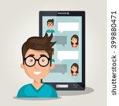 mobile chat design    Shutterstock .eps vector #399880471