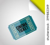 cinema icon  design  | Shutterstock .eps vector #399882349