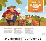 man farmer with bucket of... | Shutterstock .eps vector #399885481
