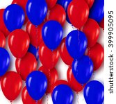 realistic 3d red blue balloons... | Shutterstock .eps vector #399905095