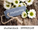label with german text  mother... | Shutterstock . vector #399905149