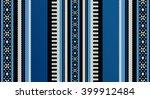 blue theme sadu weaving middle... | Shutterstock .eps vector #399912484