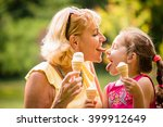 Grandmother Licking Icecream...