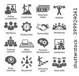 business management icons. pack ... | Shutterstock .eps vector #399924061