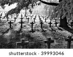 Graveyard With Rows Of Crosses...